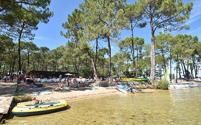 Camping le tedey sur le lac lacanau camping caravaning et location de mobile home a lacanau - Camping les jardins de l atlantique ...