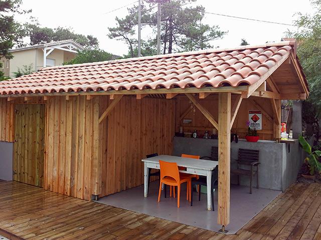 Lacanau  Aménagement exterieur en bois  plage de piscine, terrasse