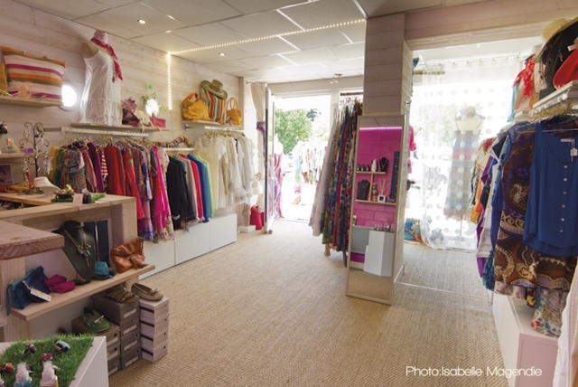 beau magasin de mode