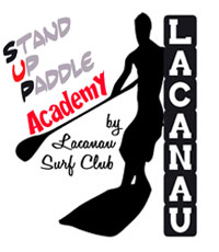logo stand up paddle lacanau surf club