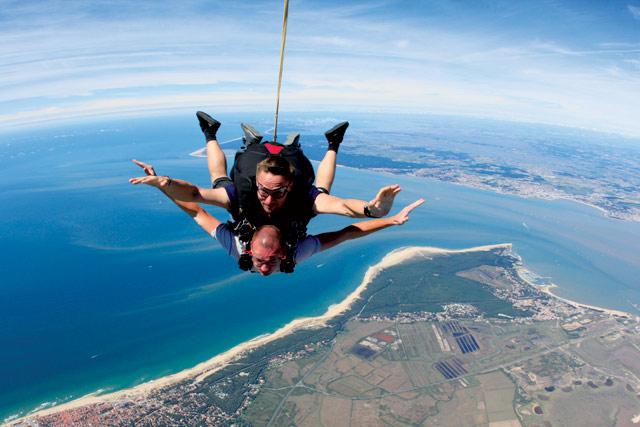 saut en parachute ocean