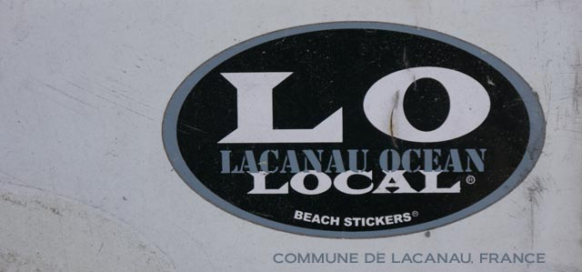 beach sticker - surf sticker lacanau local