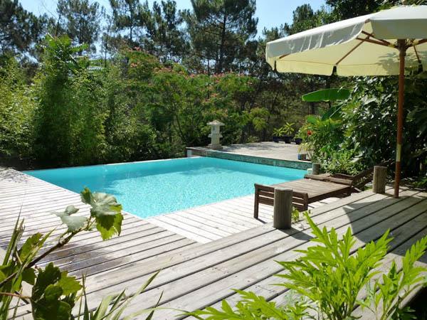 Location maison lacanau avec piscine d bordement for Maison piscine a debordement