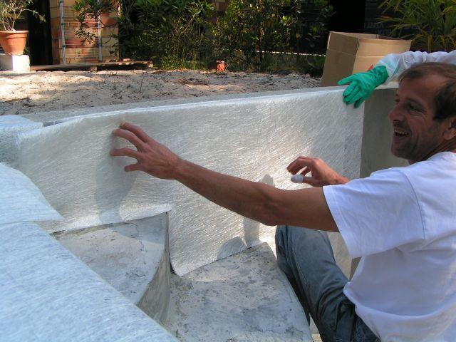 Construction piscine etape 3 stratification de la piscine for Faire construire une piscine