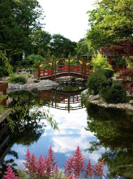 Cascades du jardin japonais de peasholm park les plus for Cascade jardin japonais